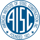 Image of logo for the American Institute OF steel construction. Mid-City Steel is an affiliate.